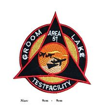 More details for area 51 groom lake testfacility usaf embroidered iron or sew on applique badge