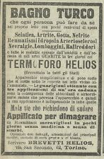 W3623 TERMOFORO HELIOS contro i reumatismi - Pubblicità 1910 - Advertising