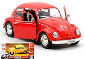 1:36 Volkswagen Beetle 1967 Classic Car Vehicle Pull Back Model Diecast Toy