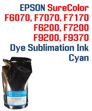 Epson SureColor F6070 F7070 F6200 F7200 F9370  Cyan Dye Sublimation Ink - w/chip