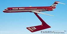 "TWA ""Wings of Pride"" MD-80 Airplane Miniature Model Plastic Snap Fit 1:200"