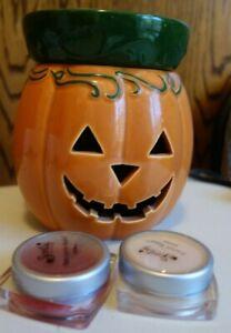 Scentsy JACK O' LANTERN Halloween PUMPKIN Full-Size Warmer + 2 Wax