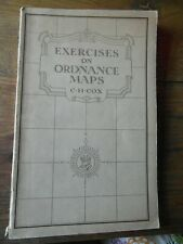 Vintage 1932 'Exercises on Ordnance Maps'- C H Cox -Good Condition- Illustrated