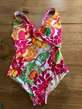 Women's LL Bean UV Protection one piece floral swimsuit size 6