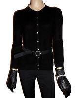 LUXE OH `DOR® 100% Kaschmir Cashmere Women Cardigan black Gr 44/46 L