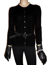 LUXE OH `DOR® 100% Kaschmir Cashmere Women Cardigan black Gr 40/42 M