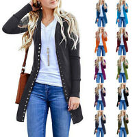 Women Ladies Winter Baggy Cardigan Coat Long Chunky Knitted Oversized Sweater