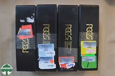 -Set of 4 Used Black PCGS Slab Storage Boxes - Each Box holds 20 Slabbed Coins-