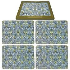 Set of 4 William Morris Snakeshead Placemats Dining Table Mats Luxury Gift