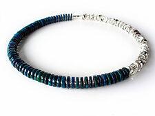 A Sign *Midnight Blue* Design Kette/Halskette Azurit/Kristallglas Silber/Blau