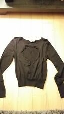Women YSL open heart black Sweater Size M