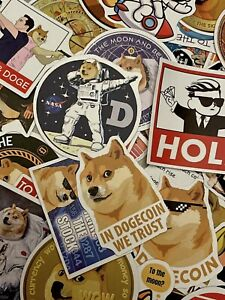 3pcs Doge Dog Meme Dogecoin Stickers To The Moon 🚀🐕
