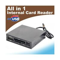 CARD READER LETTORE INTERNO SCHEDE 3.5 ALL USB SD XD TF MS MICRO IN VANO FLOPPY.