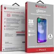 ZAGG InvisibleShield GlassPlus+ 9H Tempered Glass Screen fr iPhone X 6 7 8 Plus