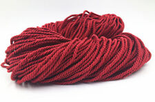 wine red Meters 5mm Twisted Soutache Braided Rope/Cord Jewellery Craft Supplies
