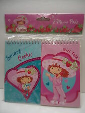 "STRAWBERRY SHORTCAKE 2 pk Memo Pads 3""x5""~Smart Cookie~  NEW GR8 Gift for a fan"