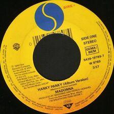 "Madonna Hanky Panky 7"" WS EX/Tedesco 5439-19789-7 NOC"