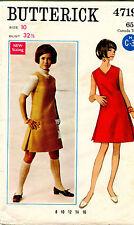 1960s VTG Butterick Misses' Dress or Jumper Pattern 4719 Size 10