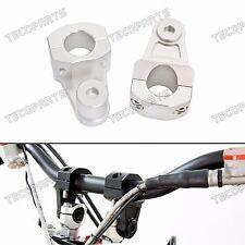 Silver 1-1/8'' Pivot CNC Handlebar Riser Clamp for BMW R1200GS HP2 S1000XR G450X