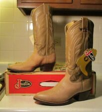 New DISPLAY MODEL Justin #8048 6.5 D ivory wildebeest/calf leather #121