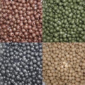 Carp Fishing 6mm Rubber Tapered Bore Buffer Bead, 4 Colours, Qty's 25 - 500