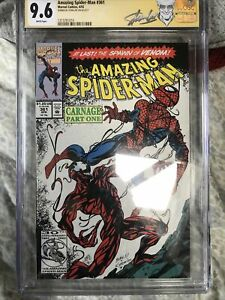 AMAZING SPIDERMAN #361 CGC 9.6 * 1sT CARNAGE * SIGNED STAN LEE