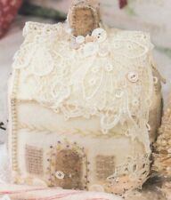 PATTERN - Lacy Wool Cookie House Pincushion - sweet PATTERN - Crabapple Hill