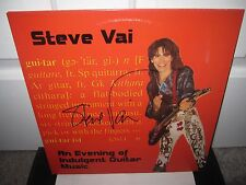 STEVE VAI SIGNED EVENING INDULGENT MUSIC ALBUM AUTOGRAPH WHITESNAKE PROOF
