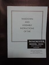 Winchester model 1400, manual approved by Winchester 35 yrs ago
