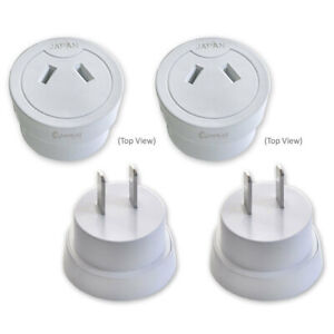 2x Universal Travel Power Adapter Australia AU/NZ to USA/Canada/Japan/Mexico