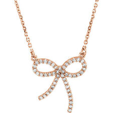 Diamante LAZO 40.6cm Collar en 14k oro rosa ( 1/4 Ct. TW