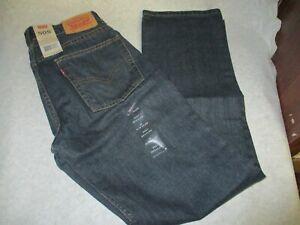 "Levi's 505 Regular Fit Size 16 Slim Boys Straight Leg 26 ""x 28"" Blue Jeans New"