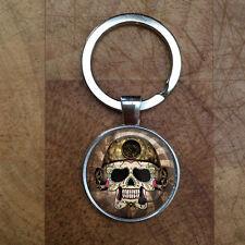 Steampunk Sugar Skulls Keyring Gift