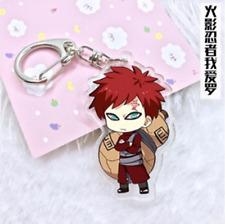 Hot Japan Anime Naruto Gaara Acrylic Key Ring Pendant Collection Keychain Gift