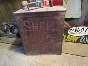 Vintage CHELL NO3 petrol can prop ideal mancave garage etc