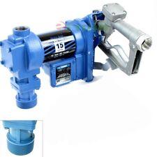 12 Volt Dc 15gpm Gasoline Fuel Transfer Pump Kit Petrol Diesel Kerosene Withnozzle