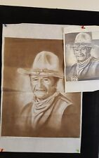 "Tri-Chem Liquid Embroidery Picture to Paint 20"" x 16"" John Wayne w/ instructions"