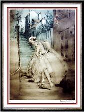 Louis Icart Color Etching Hand Signed French Art Deco Female Portrait Montmartre