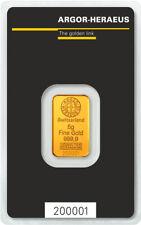 Goldbarren 5g 5 Gramm Feingold Argor-Heraeus Blister Gold 99,99 gold bar Swiss