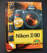 (R) Nikon D90  mit CD-ROM,  Buch / Book - Neuwertig