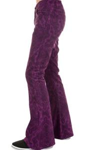 HOMME Rétro Vintage 60'S 70'S Style Pantalon Patte D' Eph Évasé Violet Cachemire