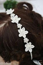 Haarreif zarte Blüten 2 Größen silber, Kommunion Blumenkind, Sternblüten weiß