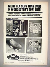 Worcester Toy PRINT AD - 1971 ~ toys ~ Heinz Pickle, Electric Vacuum, Tea Sets