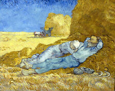 Vincent Van Gogh Resting canvas print giclee 16X12 reproduction painting poster