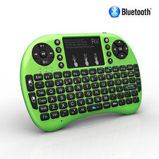 Rii i8+ BT Mini Wireless Bluetooth Backlight Backlit Touchpad Keyboard w/ Mouse