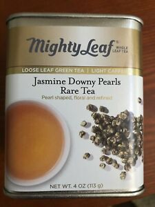 Mighty Leaf Jasmine Downy Pearls Rare Tea. 4oz. Expires 2022