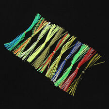 30Pcs Fly Tying Threads Skirts Straps for Flies Lures Beard Wire Making 13cm set