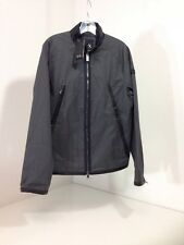 ARMANI EXCHANGE MEN'S FAUX LEATHER TRIMMED JACKET CHARC GRAY W/BLK TRIM MED $180
