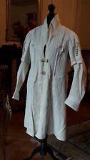 Superbe et rare manteau 3/4 d'été en coton blanc - Haute couture - 1850 - 1880