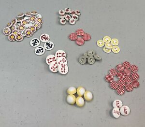 Fun Lot Vintage Shank & Two Hole Plastic Buttons 10 Different Sets